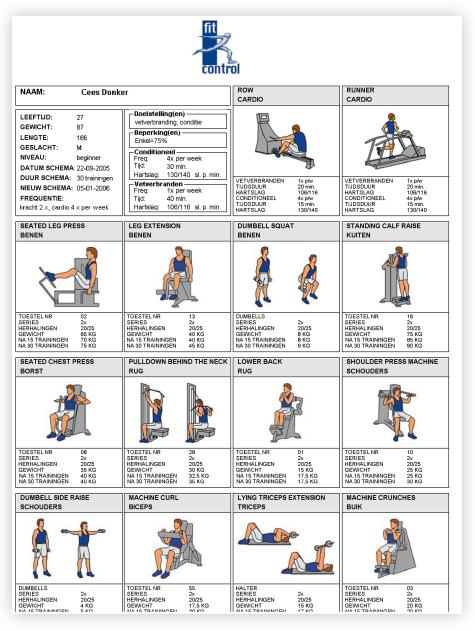 fitness programma